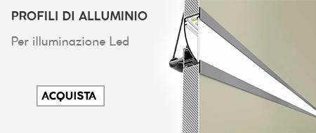 banner con sconto del 50% su profili alluminio