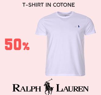 banner con sconto del 50% su abbigliamento