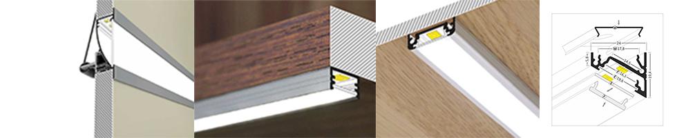 vendita profili alluminio per led su infinitymegastore.it