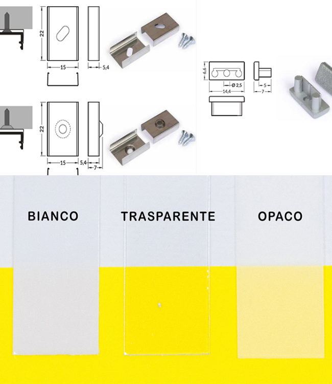 accessori per profilo alluminio begton