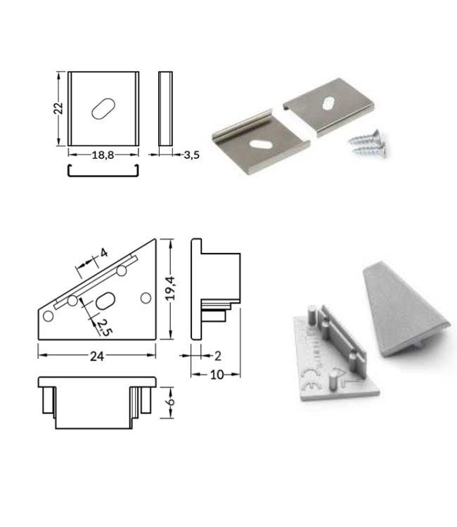 accessori per profilo alluminio corner
