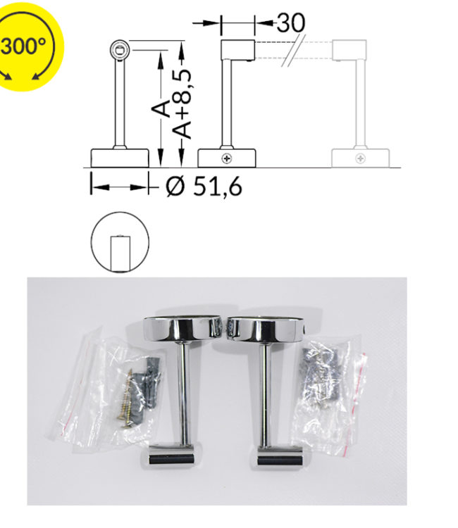 supporti distanziatori per profilo alluminio pen