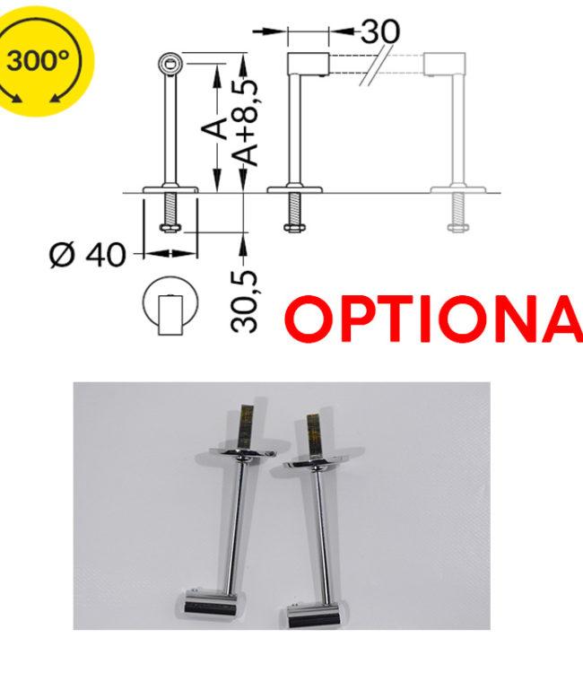 distanziatore a perno per profilo alluminio pen
