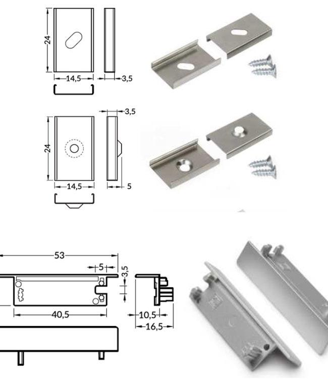 accessori per profilo alluminio flat