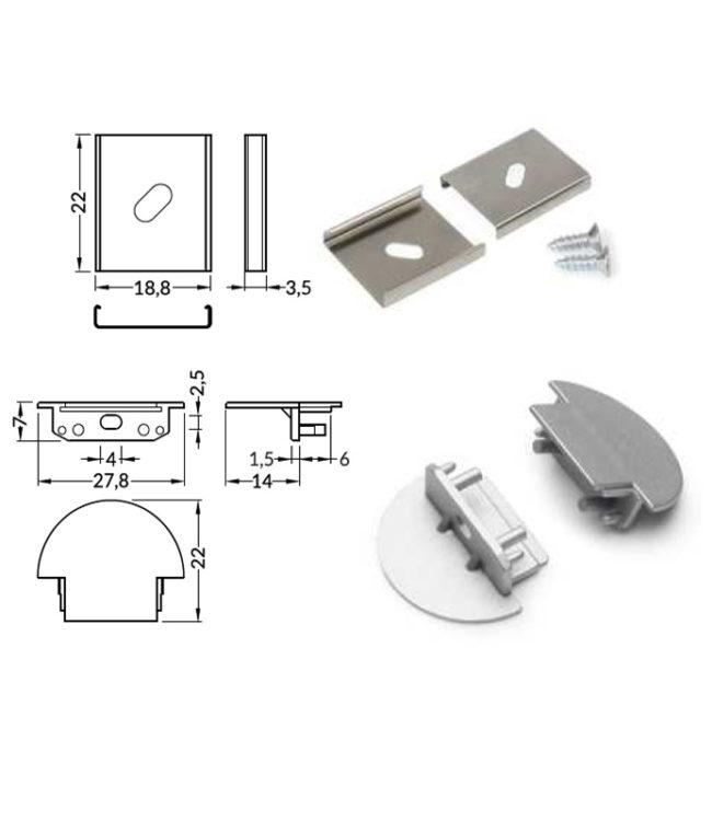 accessori per profilo alluminio grove