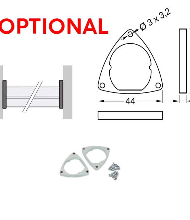 supporti in acciaio per profili alluminio oval