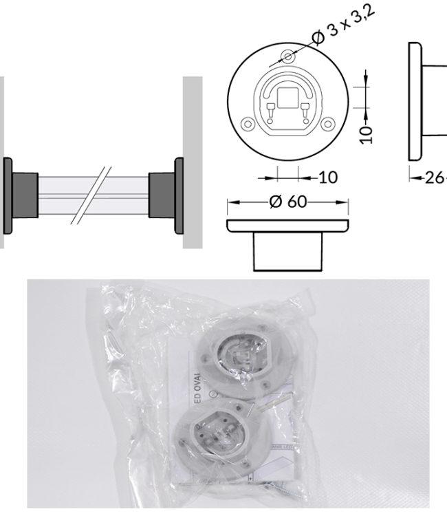 accessori in plastica per profilo alluminio oval