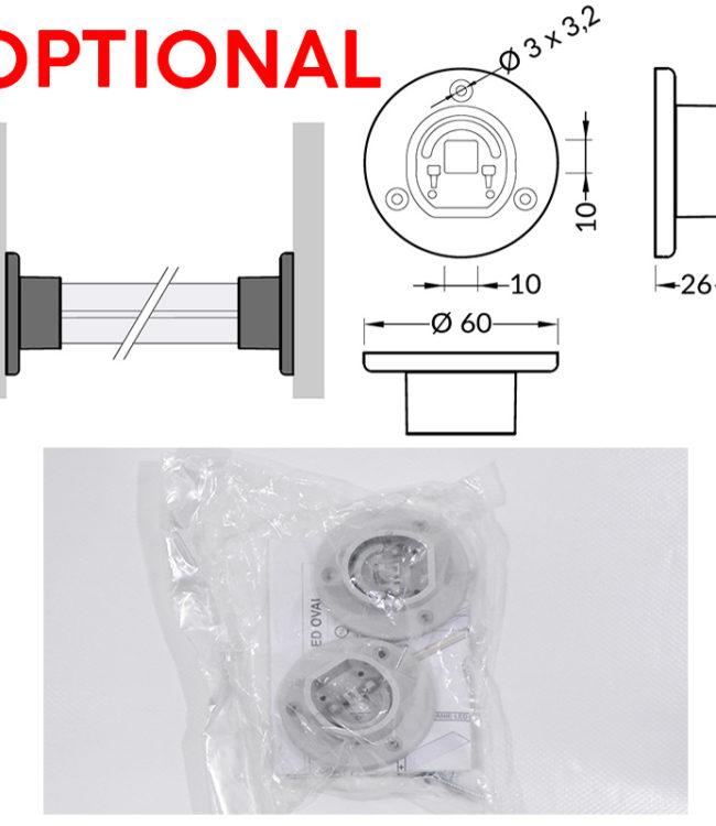 supporti per profili alluminio oval