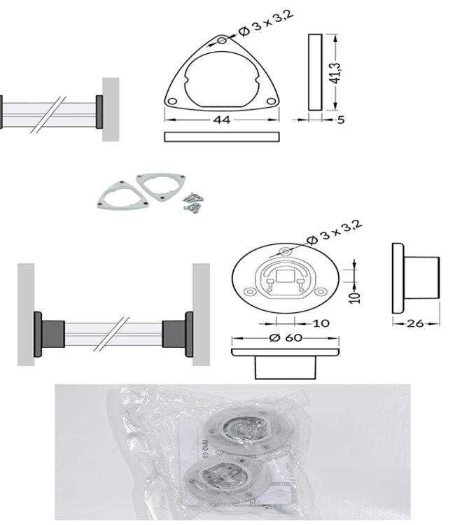accessori per profili alluminio oval