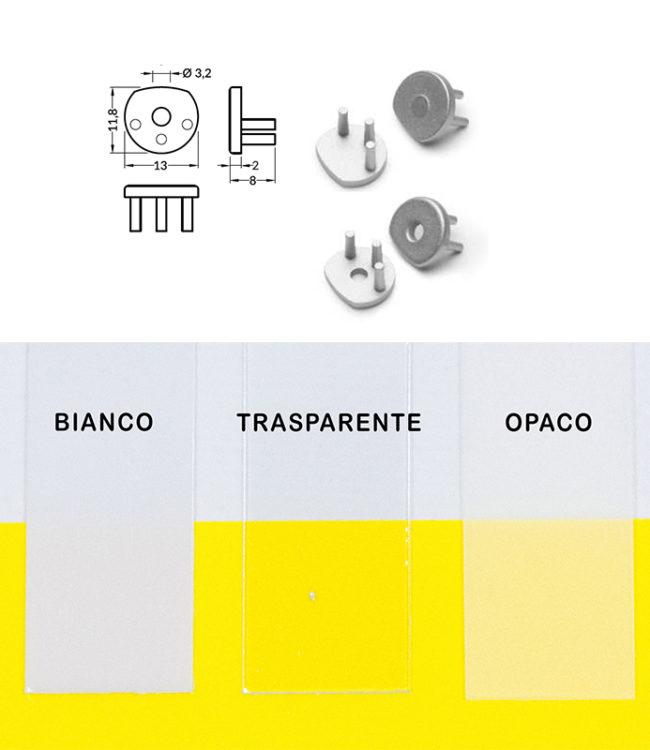 terminali per profilo alluminio pen