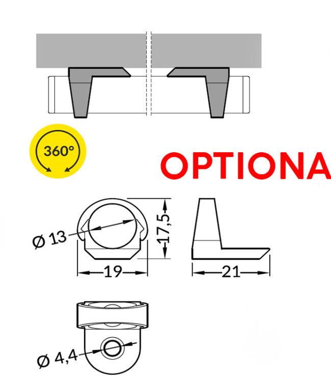 supporti in plastica per profilo alluminio pen
