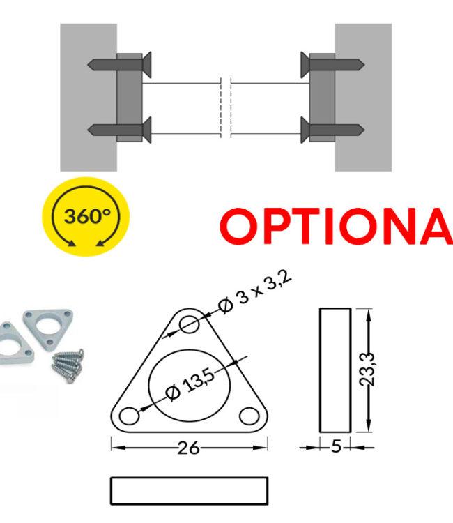 supporto acciaio per profilo alluminio pen