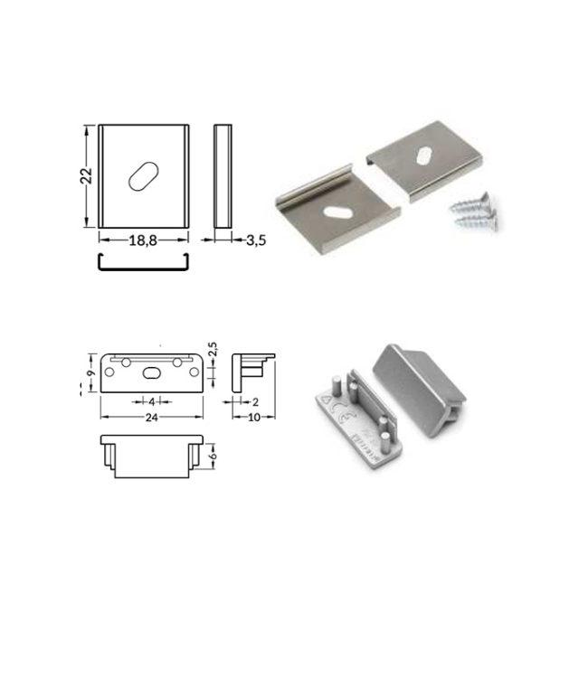 accessori per profilo alluminio surface
