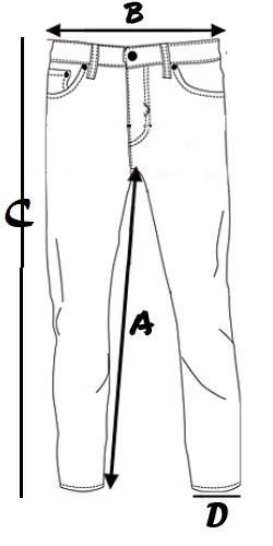 Taglia Jeans Carrera Mod. 700