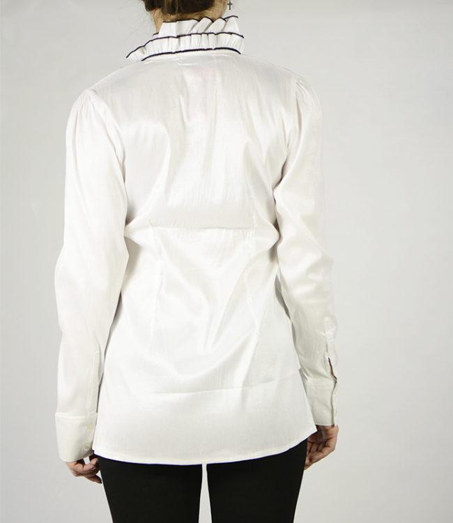 camicia bianca donna a tunica dietro
