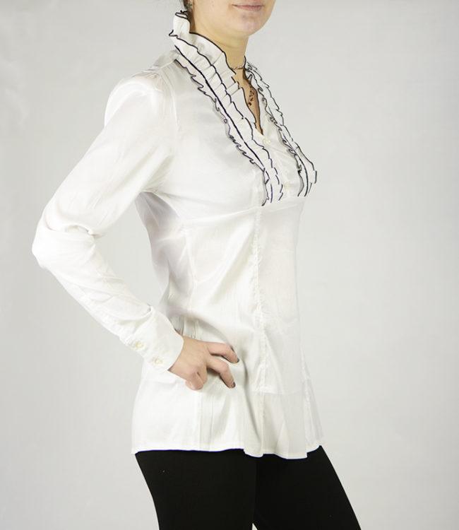 camicia bianca donna a tunica lato