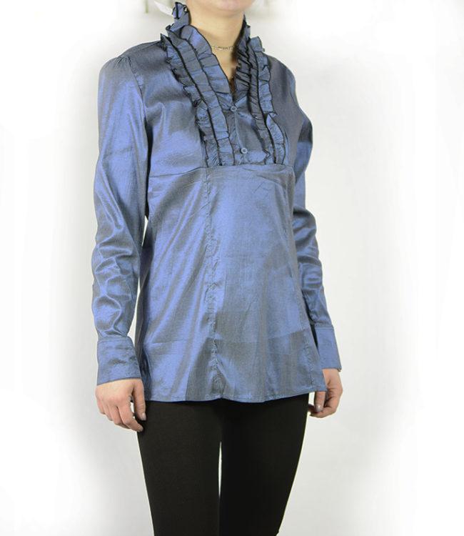 camicia blue donna a tunica