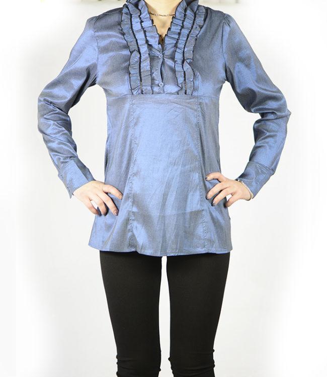 camicia blue donna a tunica 1
