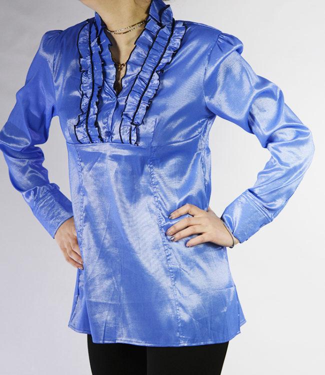 camicia blue chiaro donna a tunica 1