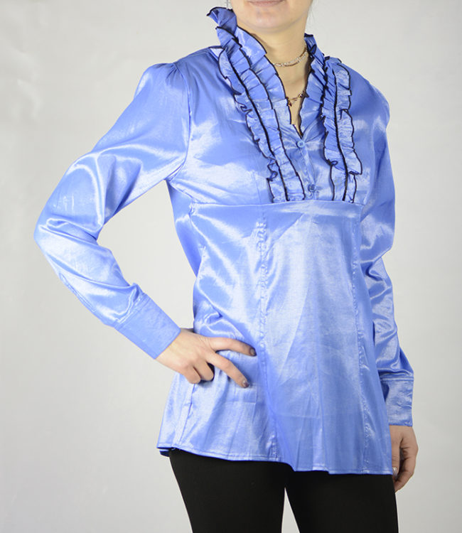 camicia blue chiaro donna a tunica 4