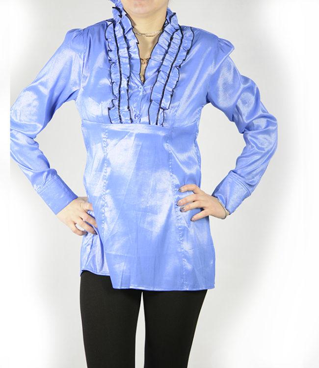 camicia blue chiaro donna a tunica