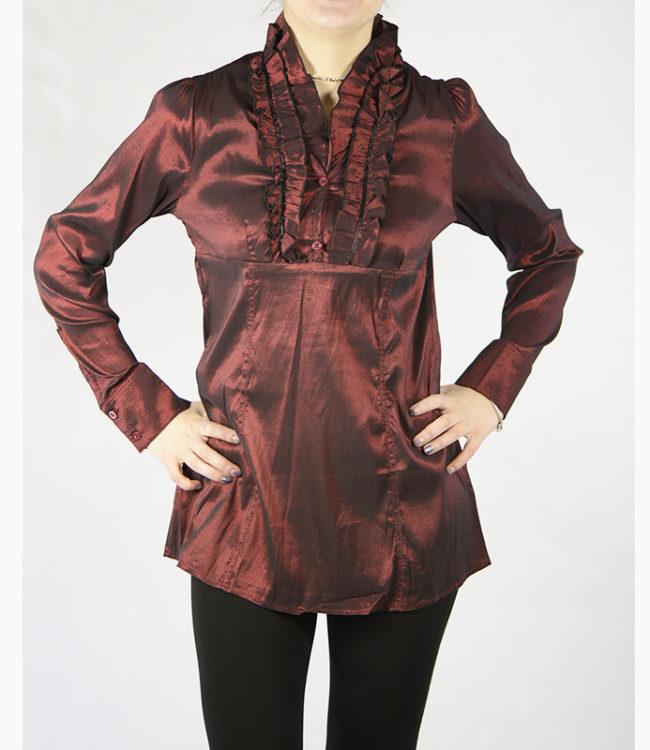 camicia marrone donna a tunica