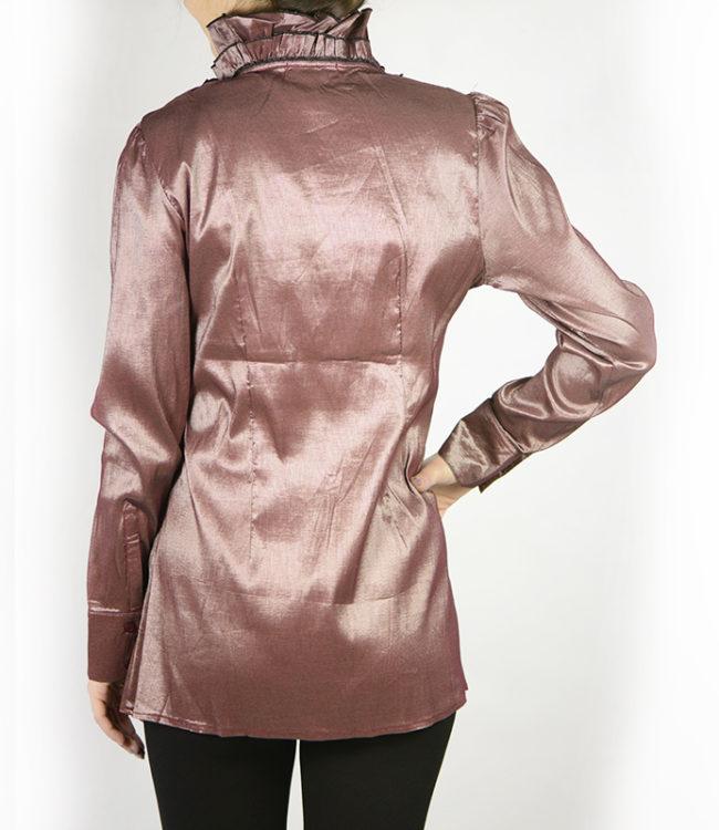 camicia marrone chiaro donna a tunica dietro