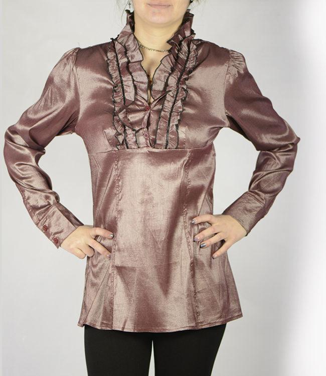 camicia marrone chiaro donna a tunica