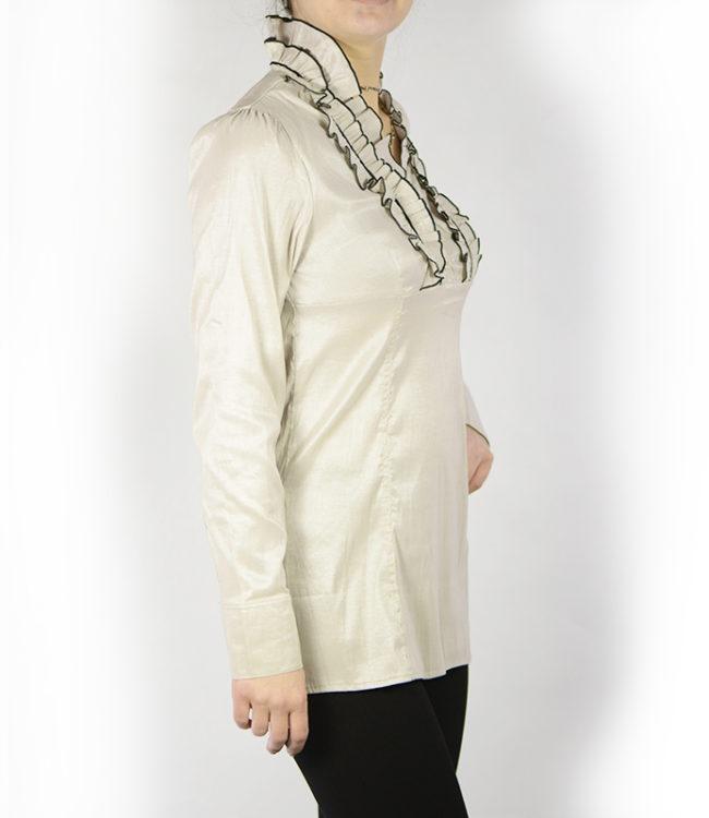 camicia panna donna a tunica lato
