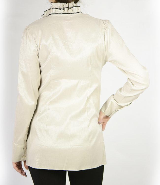 camicia panna donna a tunica dietro