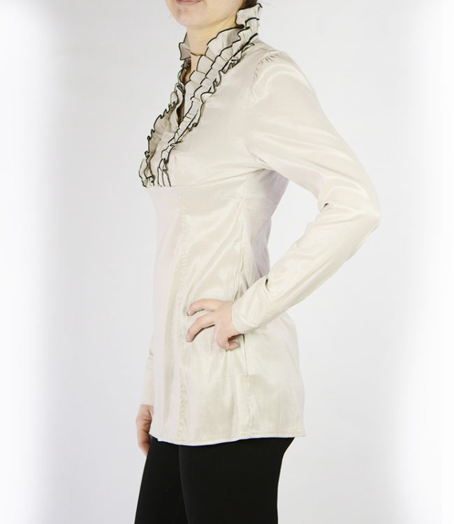 camicia panna donna a tunica lato 1