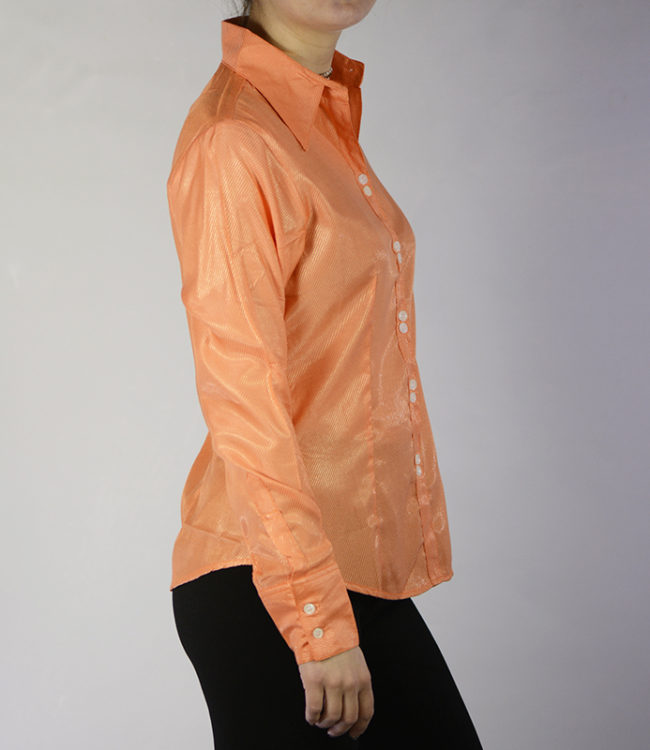camicia donna pesca lato