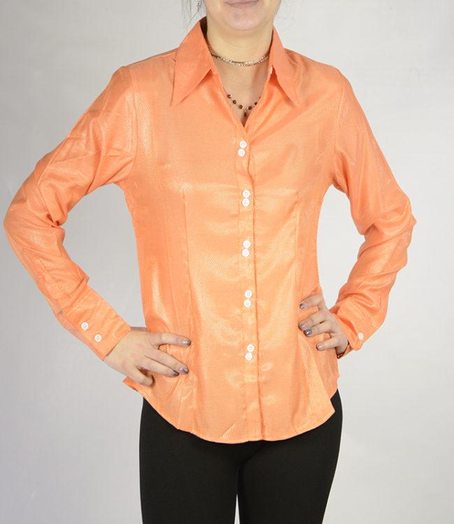 camicia donna pesca