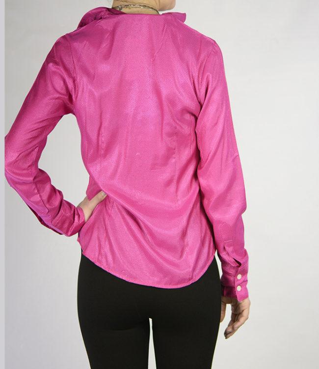 camicia donna lilla dietro