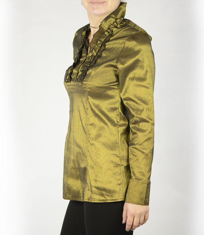 camicia donna a tunica verde lato 1