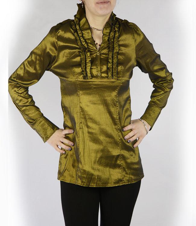 camicia donna a tunica verde
