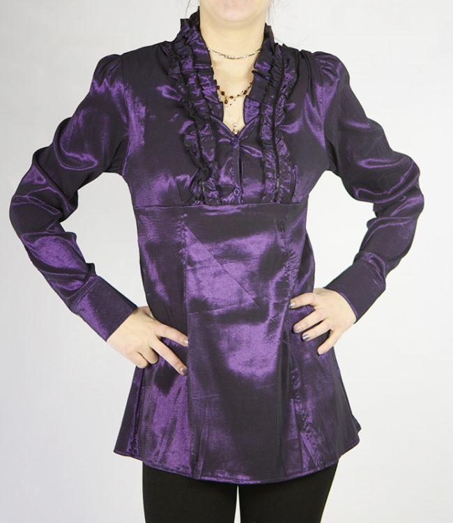 camicia donna a tunica viola