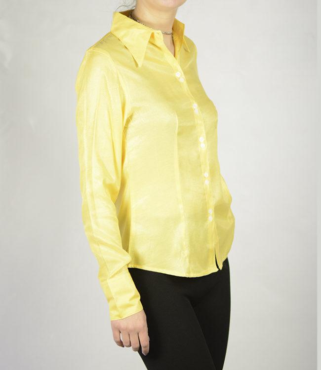 camicia donna gialla lato