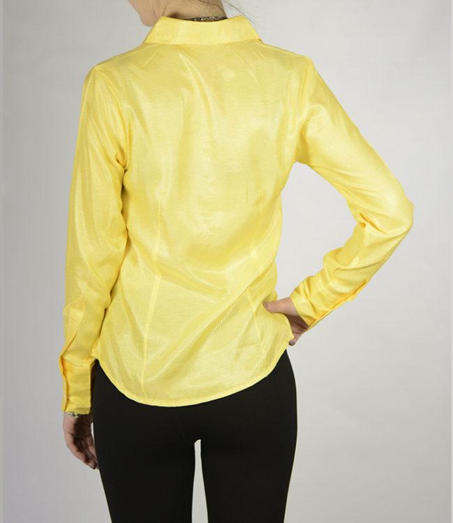 camicia donna gialla dietro