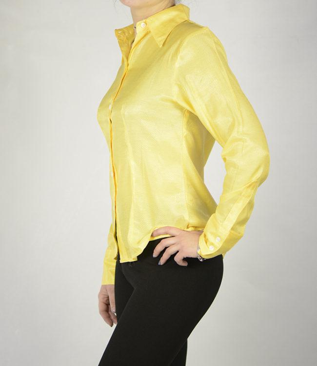 camicia donna gialla lato 1