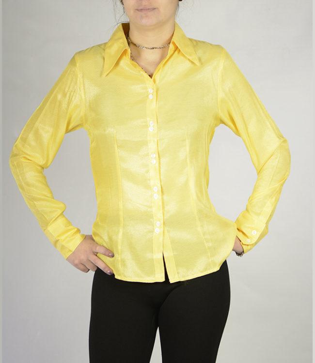 camicia donna gialla