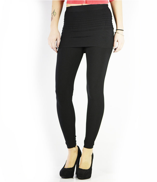 pantacollant leggins con gonnellino nero