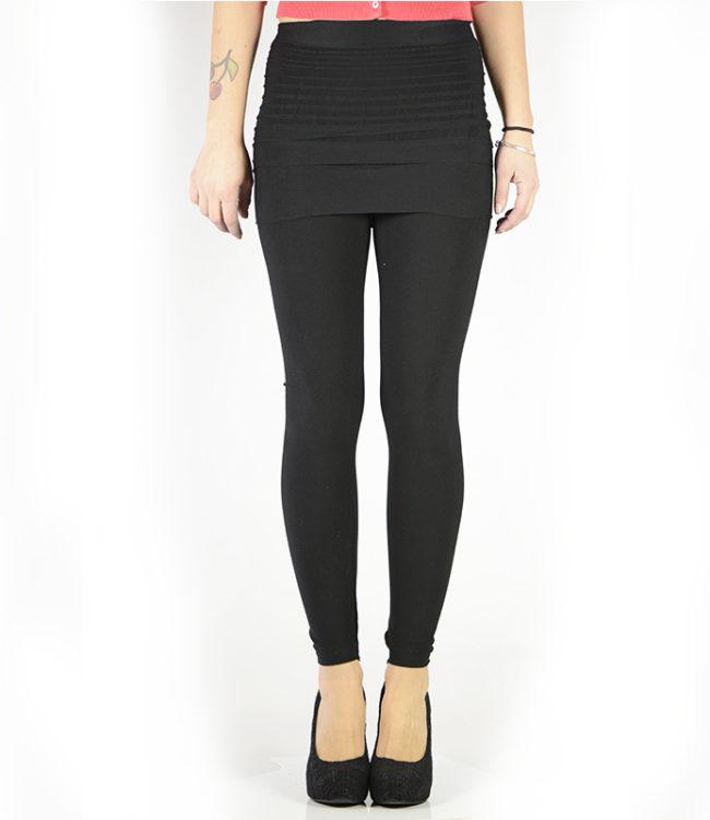 pantacollant leggins con gonnellino nero 1
