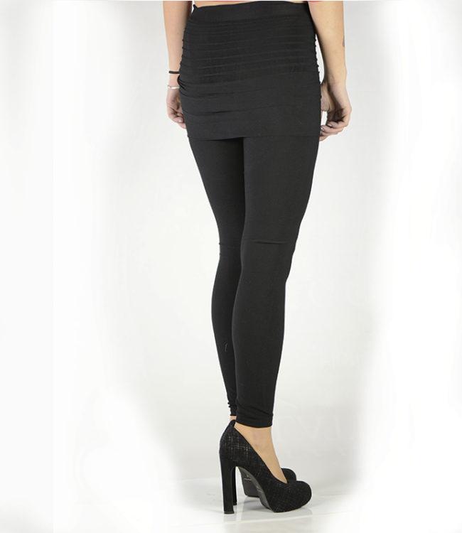 pantacollant leggins con gonnellino nero dietro
