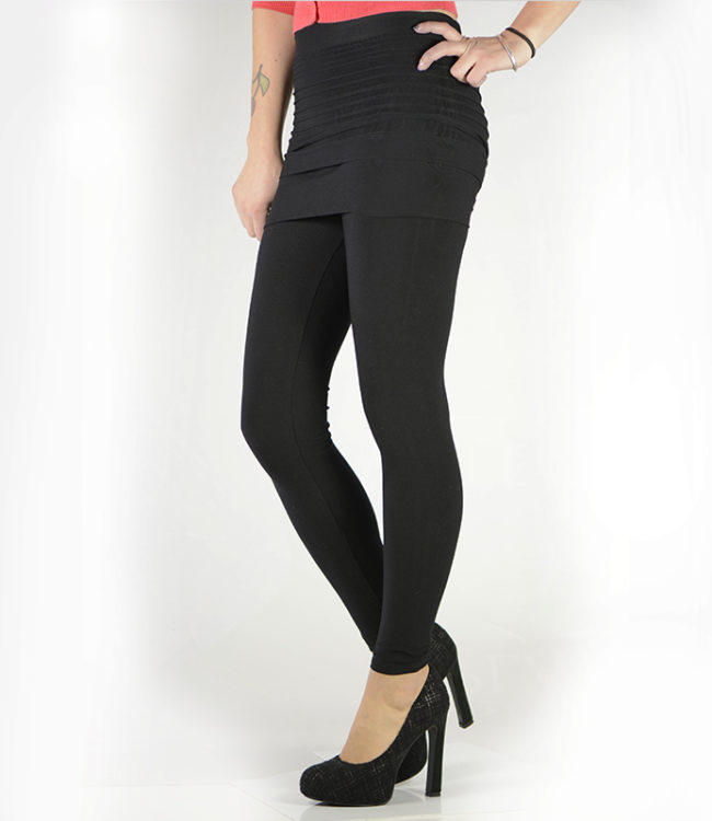 pantacollant leggins con gonnellino nero lato