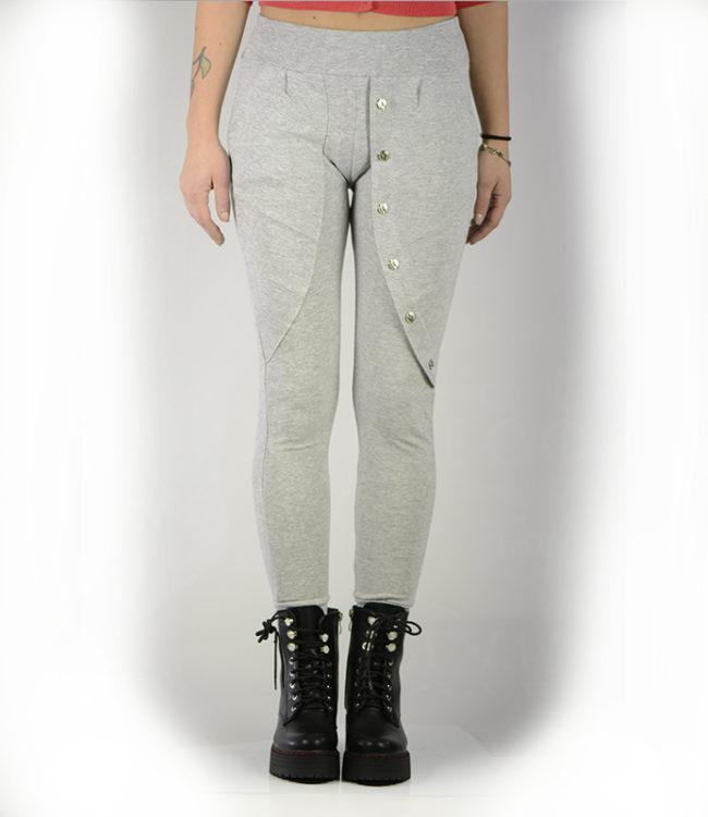 pantaloni grigi sportivi