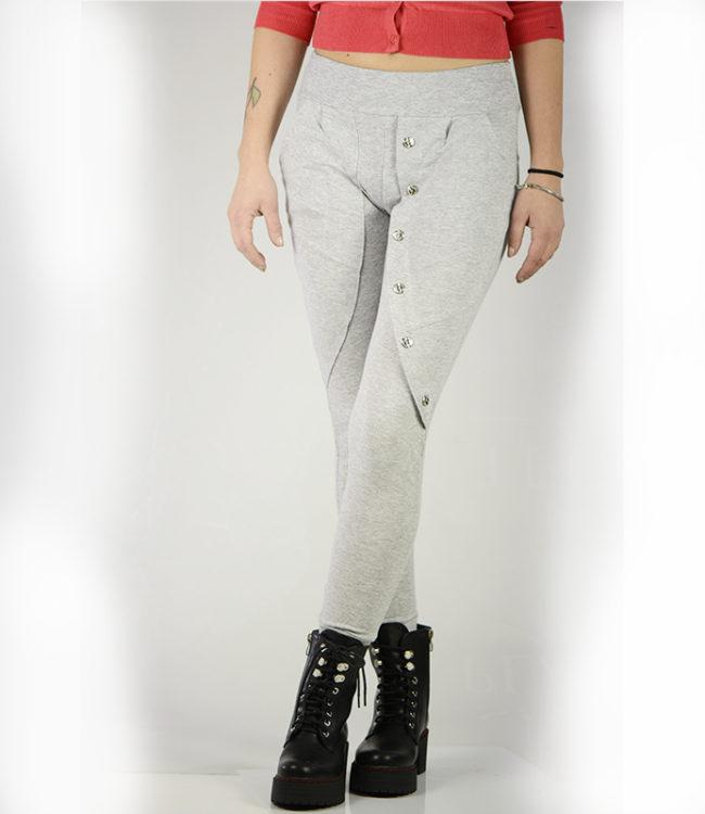 pantaloni grigi sportivi casual